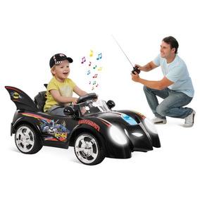 Mini Carro Elétrico Batman C/ Controle Remoto Para Os Pais