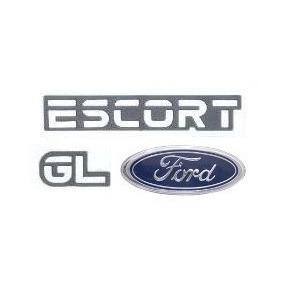 Emblemas Escort Europeu Gl + Ford - Modelo Original