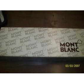 Mont Blanc Boligrafo Acero Con Clip De Oro