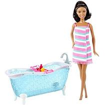 Juguete Barbie Afroamericana Doll Y Bañera Playset