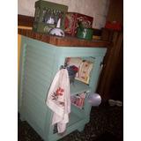 Mueble Rustico Accesorio Cocina Con Material De Demolicion