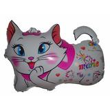 Balão Metalizado Gatinha Marie 60x46 Cm Kit C/ 10 Balões