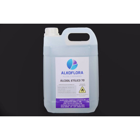 Alcool 70 Glº (5 Litros) - Anti-septico Bactericida