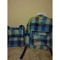 Mochila Escolar Menino/ Azul Xadrez - Puket
