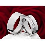 Alianzas-anillos De Compromiso -bodas-acero -zircones
