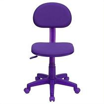 Muebles De Flash Bt Violeta-gg Tela Púrpura Silla De Trabaj