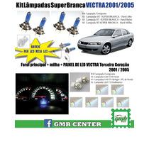 Kit Lâmpada Branca Vectra 2001 2003 2004 2005 + Painel Led