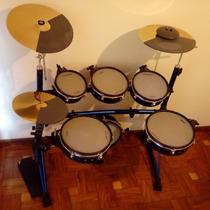 Bateria Eletrônica Staff Drums Realistic Rk 120 Ótimo Estado