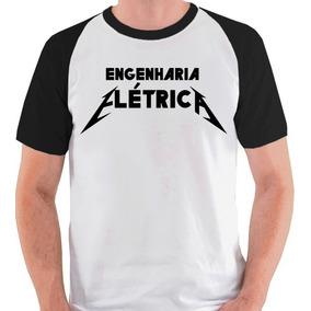 Camiseta Engenharia Elétrica Graduação Raglan Curso Blusa