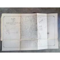 Antiguo Plano De La Ciudad De San Luis Potosí C.a Años 30