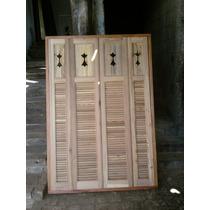 Janela De Madeira De Demolição Com Veneziana 1,70x1,10