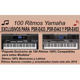 100 Ritmos Yamaha Psr-e433,psr-e443,psr-e453,psr-ew400