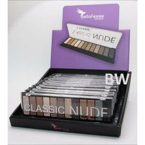 Caixa 12 Paletas Sombras Nude 3d Matte Kit Maquiagem Atacado