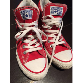 zapatillas converse botitas rojas