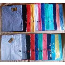 Kit C/10 Camisetas Camisas Gola V Atacado Top Frete Grátis
