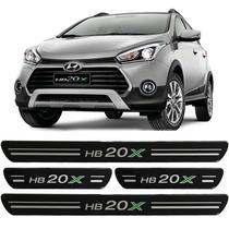 Soleira De Porta Resinada Hyundai Hb20x 2013 2014/.. Preta