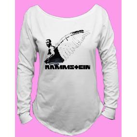 Camiseta Allsgeek Banda Rammstein Gola Canoa Manga Longa 07