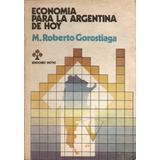 Economia Para La Argentina De Hoy - M. Roberto Gorostiaga