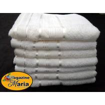 Pacote Com 12 Toalhas De Rosto Branca Royal Knut Santista