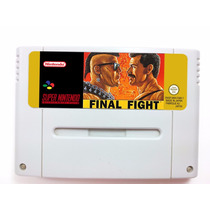Final Fight 1 Super Nintendo/ Famicom Original Usa - Leia