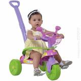 Triciclo Passeio Infantil Smile Confort Rosa Empurrador