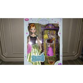 Preciosa Muñeca Cantante De Anna Frozen De Disney Store