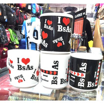 4 Tazas Decoradas I Love Bs As Souvenir Regalo Argentina
