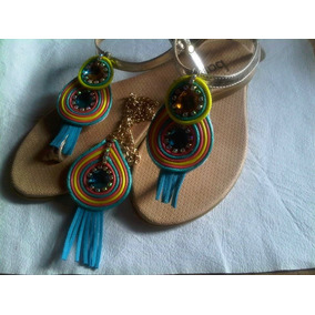 Sandalias Casuales Decoradas Soutache