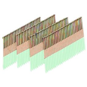 Clavos Galvanizados 3-1/2 In. Calibre 10 De 34° Con 2000 Pc