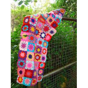 Pie De Cama Artesanal Tejido Al Crochet