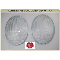 Lente Vidro Do Farol Vw Fusca Olho De Boi 63/72 - Par
