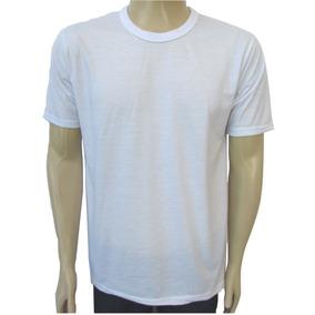 Camiseta Escolar Branca Gola Careca Uniforme Malha Fria