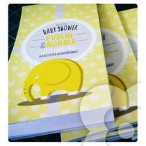 Bloc De Notas 11 X 6 Cm Portada Personalizada Baby Shower