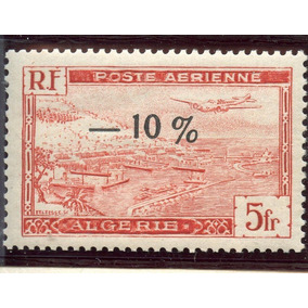 Argélia Selo Novo Mnh Avião Sobre Montanhas C/sobrecarg 1946