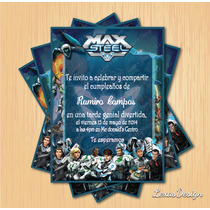 Kit Imprimible Fiesta Max Steel + Candy Bar