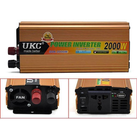 Inversor Conversor Ukc 2000w 12v 220vca C/ Usb Peak 4kva