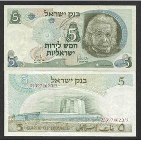 Israel 5 Lirot 1968 P. 34b Sob Albert Einstein - Tchequito