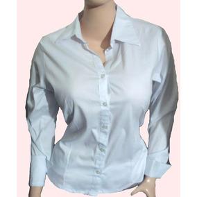 Camisa Manga Larga Blanca Para Dama Todas Las Tallas