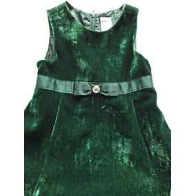 Vestido Terciopelo Verde Gymboree 3 4 Años