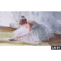 Bailarina Pintura Painel 3,00x1,60m Lona Festa Aniversários