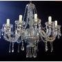 Araña Colgante De Vidrio 12 Luces Ideal Eventos Y Salones