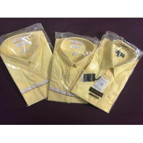 Paquetazo De 3 Camisas De Vestir En Color Amarillo!