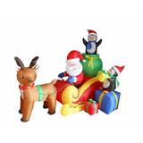 Inflable Reno D Papa Noel Decoracion Navidad Hogar Fiestas