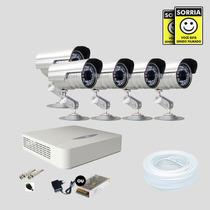 Kit Monitoramento Dvr Stand Alone 8 Canais Jfl 5 Cameras