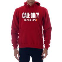 Blusa Moleton Call Of Duty Black Ops 2 Vermelho