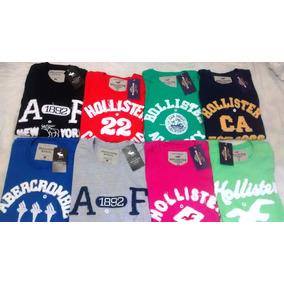 Kit Com 4 Camisa Camiseta Hollister Abercombie Bordadas