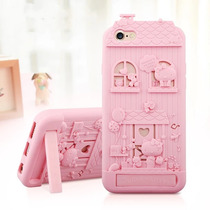 Funda Protector Iphone 7 Kitty Casa Figura Dhl Envío Gratis