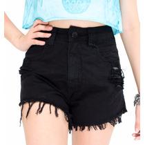 Short Jeans Feminino Customizado Cintura Alta Hot Pants