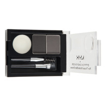 Nyx Eyebrow Cake Powder Kit Duo Sobrancelha Black/gray Ecp01