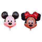Balão Metalizado Minnie Vermelha 6 + 6 Mickey + 12 Varetas